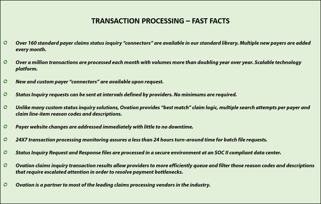 TRANSACTION PROCESSING – FAST FACTS (6.9.2017)